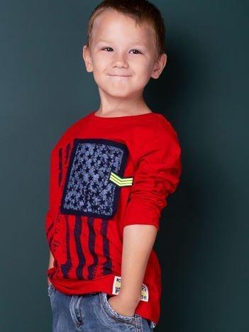 Czerwona bawełniana bluzka dla chłopca
