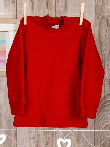 Czerwona  bawełniana klasyczna bluzeczka niemowlęca dla chłopca i dziewczynki