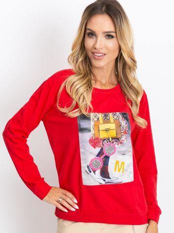 Czerwona bluza Fancy