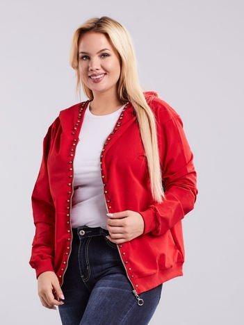 Czerwona bluza dresowa PLUS SIZE