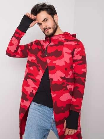 Czerwona bluza moro z kapturem Layton
