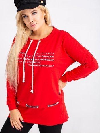 Czerwona bluza plus size Aspiration