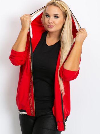 Czerwona bluza plus size Canva