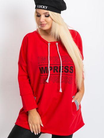 Czerwona bluza plus size Impress