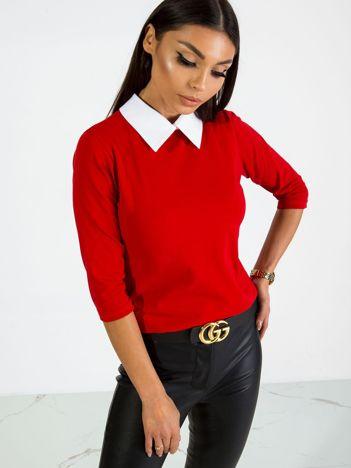 Czerwona bluzka Collar