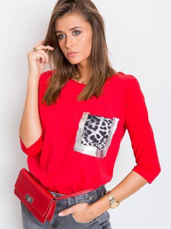 Czerwona bluzka Purr