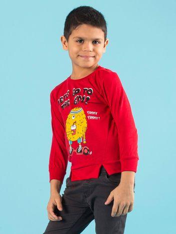 Czerwona bluzka dla chłopca z bawełny