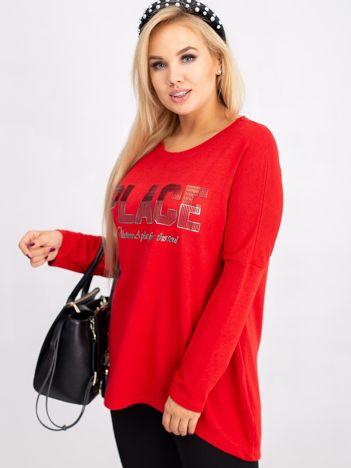 Czerwona bluzka plus size Gracie