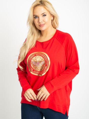 Czerwona bluzka plus size Logo