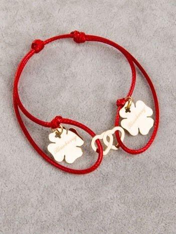 Czerwona damska bransoletka z SERCAMI I KONICZYNAMI z najlepszej jakości STALI CHIRURGICZNEJ 316L