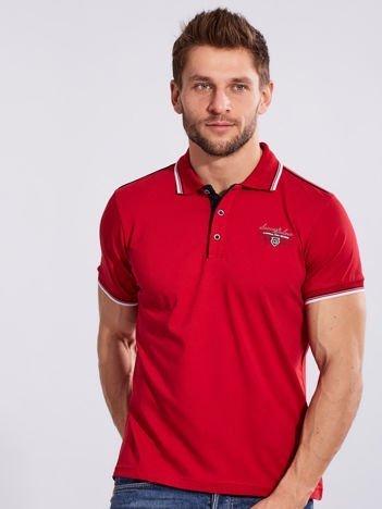 Czerwona koszulka polo dla mężczyzny