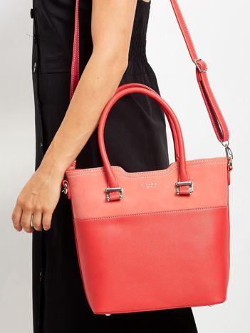 Czerwona miejska torba damska z odpinanym paskiem