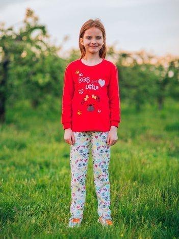 Czerwona piżama dla dziewczynki