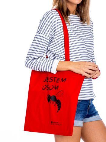 Czerwona torba materiałowa JESTEM OSOM