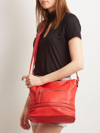 Czerwona torebka damska z eko skóry