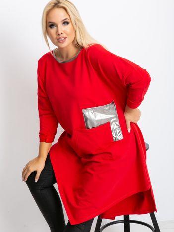 Czerwona tunika plus size Magnify