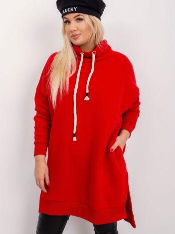 Czerwona tunika plus size Samantha