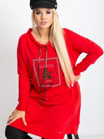 Czerwona tunika plus size Shock
