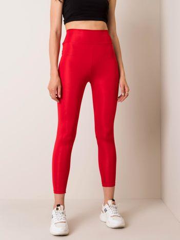 Czerwone legginsy Funky RUE PARIS