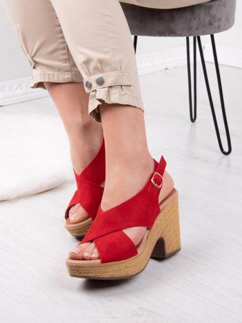 Czerwone półażurowe sandały ANESIA