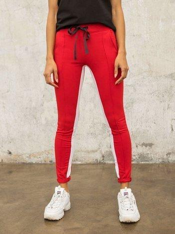 Czerwone spodnie dresowe Defined