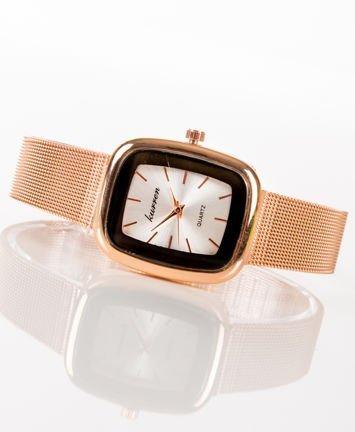 Czerwone złoto zegarek damski na bransolecie MESH
