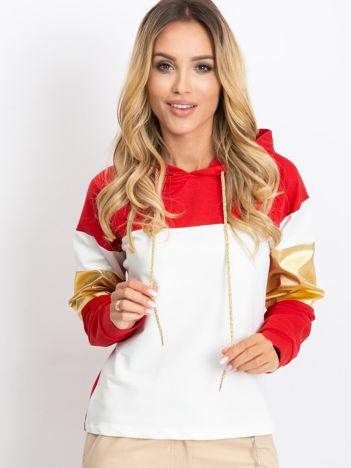 Czerwono-biała bluza Royal