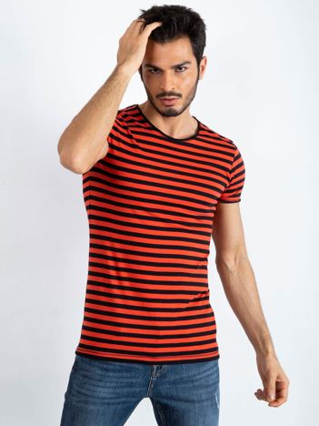 Czerwono-czarna męska koszulka Jupiter