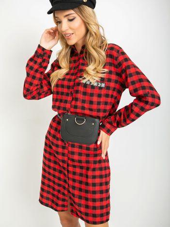 Czerwono-czarna sukienka Clarissa