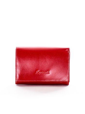 Czerwony damski portfel skórzany