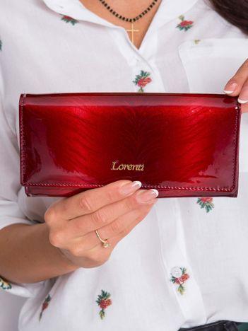 Czerwony podłużny portfel damski skórzany