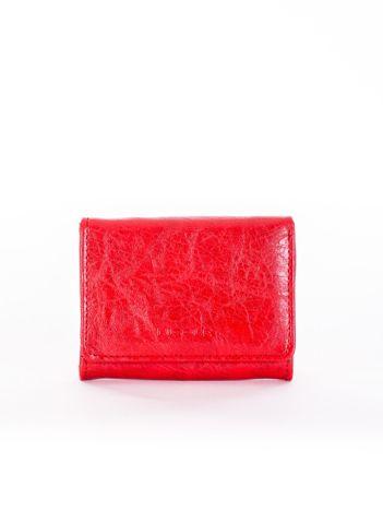 Czerwony portfel damski z ekoskóry