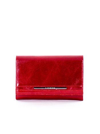 Czerwony portfel damski z kieszonką
