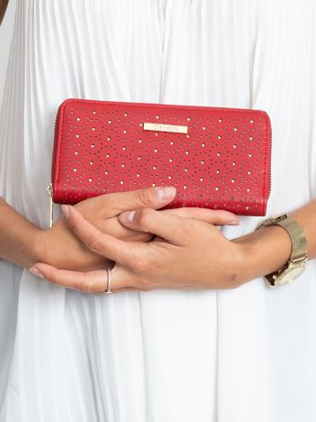 Czerwony portfel w gwiazdki