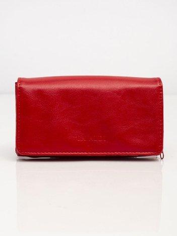 Czerwony portfel z ekologicznej skóry