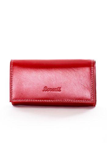 Czerwony portfel ze skóry naturalnej