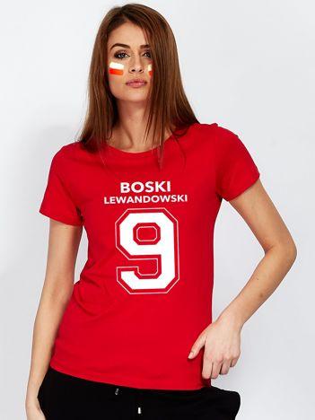 Czerwony t-shirt BOSKI LEWANDOWSKI