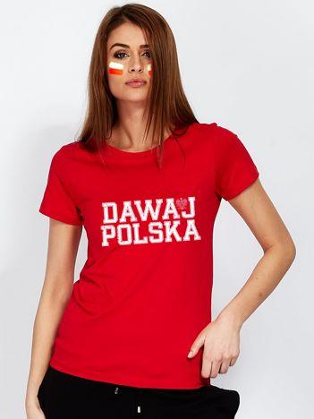 Czerwony t-shirt DAWAJ POLSKA