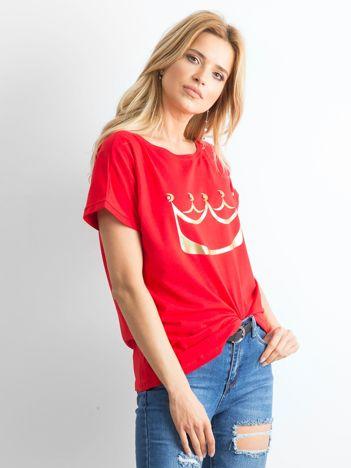 Czerwony t-shirt Kingdom