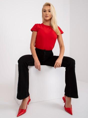 Czerwony t-shirt damski