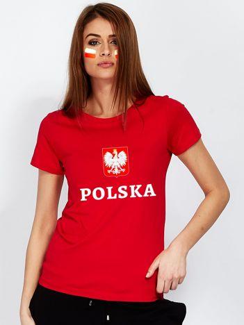 Czerwony t-shirt damski dla kibica
