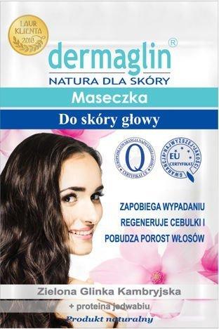 DERMAGLIN  Naturalna maseczka do skóry głowy zapobiegająca wypadaniu włosów 20 g