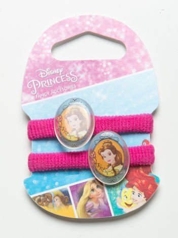 DISNEY PRINCESS Komplet 2 różowych gumek-frotek dla dziewczynki