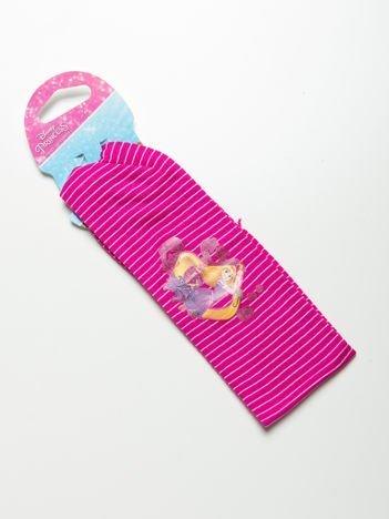 DISNEY PRINCESS Opaska do włosów z aplikacją Różowa w białe paski
