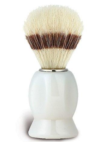 DONEGAL Pędzel do golenia Naturalne włosie dzika biały (9519)
