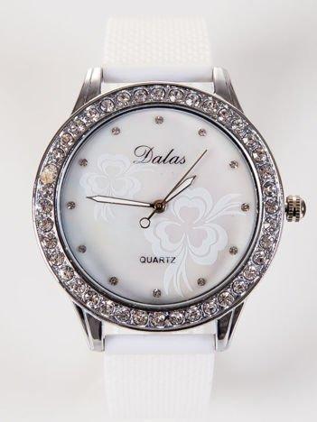 Dalas Damski zegarek z perłową tarczą i z cyrkoniami