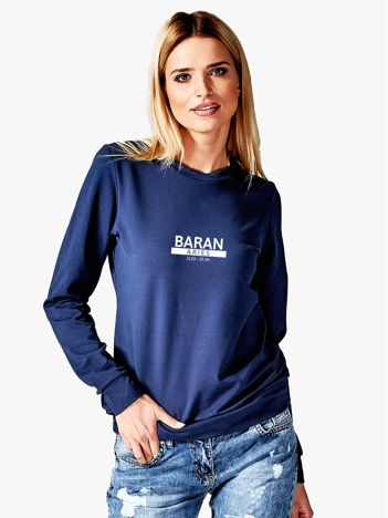 Damska bluza ze znakiem zodiaku BARAN granatowa