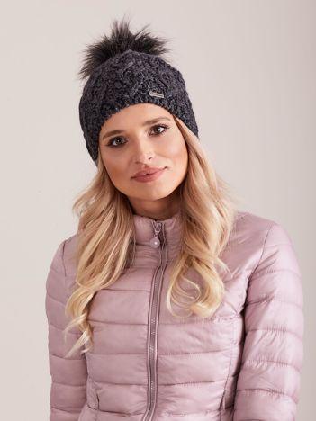 Damska czapka na zimę ciemnoszara