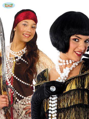 Damski długi naszyjnik ze sztucznych pereł