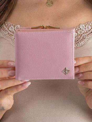 Damski portfel z ekoskóry różowy